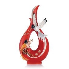 Paradise Flycatcher and Plum Blossom Vase