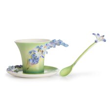 Lily of the Nile Flower Cup, Saucer and Spoon Set