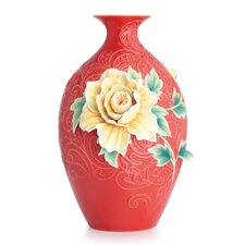 Peony on Lace Large Vase