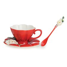 Venice Peony Cup, Saucer and Spoon Set