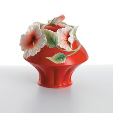 <strong>Franz Collection</strong> Island Beauty Hibiscus Flower Sugar Jar