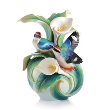 Happy Encounter Blue Winged Pitta vase
