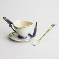 Papillon Butterfly Cup, Saucer and Spoon Set
