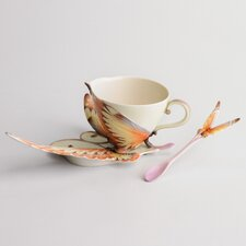 <strong>Franz Collection</strong> Papillon Butterfly Cup, Saucer and Spoon Set
