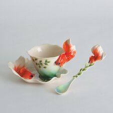 Goldfish Cup, Saucer and Spoon Set