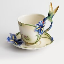 Long Tail Hummingbird Cup, Saucer and Spoon Set