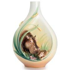 Safari Jungle Hippo and Baby Vase