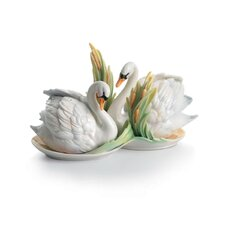 <strong>Franz Collection</strong> Swan Lake Swan Porcelain Salt & Pepper Shaker Set