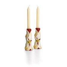 Autumn Memories Floral Porcelain Candlestick (Set of 2)