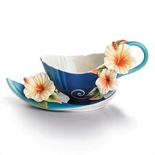 Tropical Beauty Teacup and Saucer