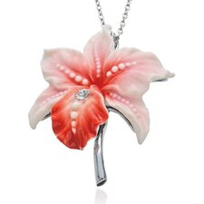 Cattleya Orchid Flower Necklace
