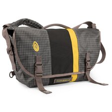 D-Lux Small Racing Stripe Indie Plaid Messenger