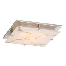 "11"" Recesso Plaza Faux Alabaster Recessed Light Shade"