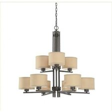 Tecido 9 Light Chandelier