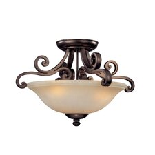 Brittany 3 Light Semi Flush Mount