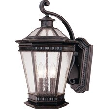 Vintage 3 Light Outdoor Wall Lantern