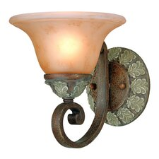 Windsor 1 Light Wall Sconce with Backplate