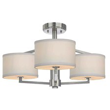 <strong>Dolan Designs</strong> Monaco 3 Light Semi-Flush Mount