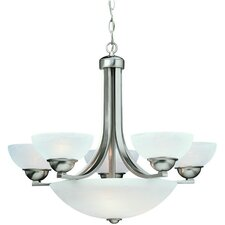 Fireside 8 Light Bowl Chandelier