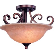 Medici 2 Light Semi Flush Mount