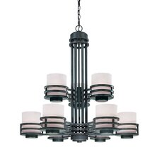 Saturn 9 Light Chandelier