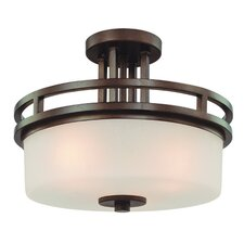 Multnomah 3 Light Semi Flush Mount