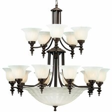 <strong>Dolan Designs</strong> Richland 20 Light Bowl Chandelier