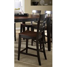 Bristol Point Gridback Barstool in Oak Espresso