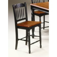 British Isles School House Barstool in Oak and Black