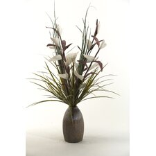 Lighted Bird of Paradise Floor Plant in Decorative Vase