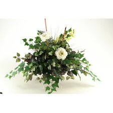 Peony, Orchid and Mixed Greenery Shelf Topper