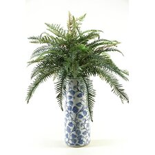 <strong>D & W Silks</strong> River Fern Floor Plant in Decorative Vase