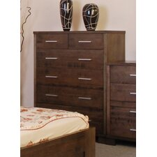 Riley 6 Drawer Tallboy in Smoke