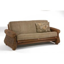 <strong>Night & Day Furniture</strong> Rattan Floral Iris Futon Frame