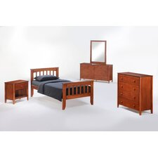 Zest Sarsaparilla Slat Bedroom Collection