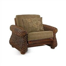 <strong>Night & Day Furniture</strong> Rattan Floral Iris Futon Chair Frame