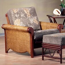 <strong>Night & Day Furniture</strong> Rattan Floral Rosebud Futon Chair Frame