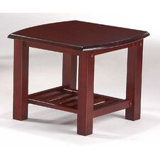 Corona End Table in Rosewood