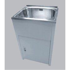 45L Lavassa Free-Standing Laundry Tub with 2 Holes and By Pass Kit