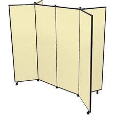 6 Panel Mobile Display Tower Bulletin Board