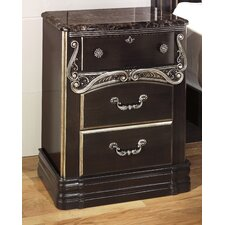 Hopedale 3 Drawer Nightstand