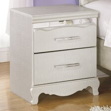 Zarollina 2 Drawer Nightstand