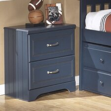 Leo 2 Drawer Nightstand