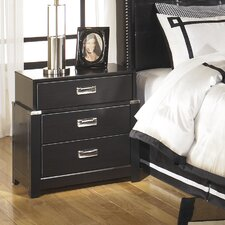 Diana 3 Drawer Nightstand