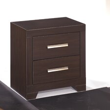 Aleydis 2 Drawer Nightstand