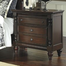 Key Town 3 Drawer Nightstand