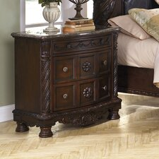 North Shore 3 Drawer Nightstand