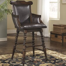 Key Town Tall Swivel Bar Stool with Cushion