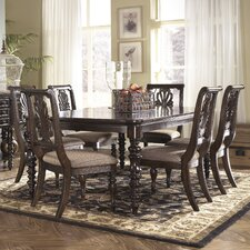 Key Town 7 Piece Counter Height Dining Set