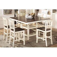 Whitesburg 7 Piece Counter Height Dining Set